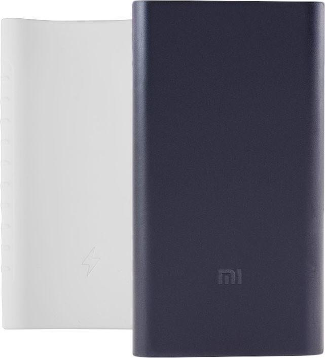 Powerbank Xiaomi Zestaw: Czarny Power Bank Xiaomi Mi 2 10000mAh i Silikonowe Etui 1