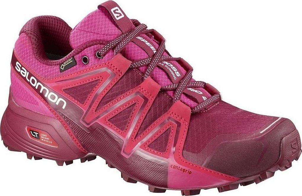 buty salomon damskie szaro rozowe