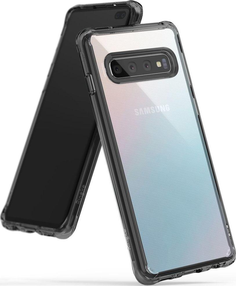 Ringke Ringke Fusion etui pokrowiec z żelową ramką Samsung Galaxy S10 Plus czarny (FSSG0059-RPKG) uniwersalny 1