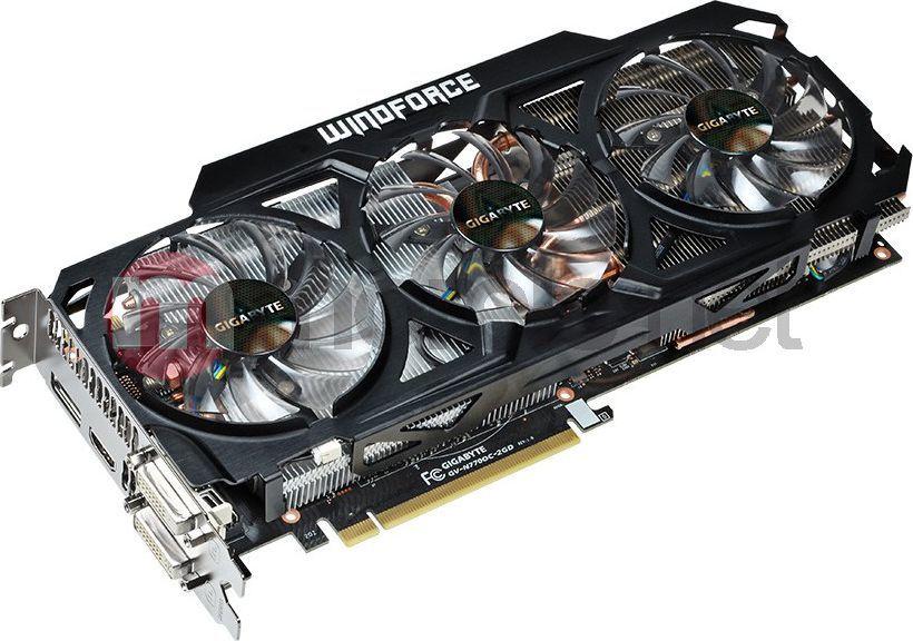 Karta graficzna Gigabyte GeForce GTX770 2048MB DDR5/256bit DVI/HDMI/DP OverClock potrójny went - (GV-N770OC-2GD) 1