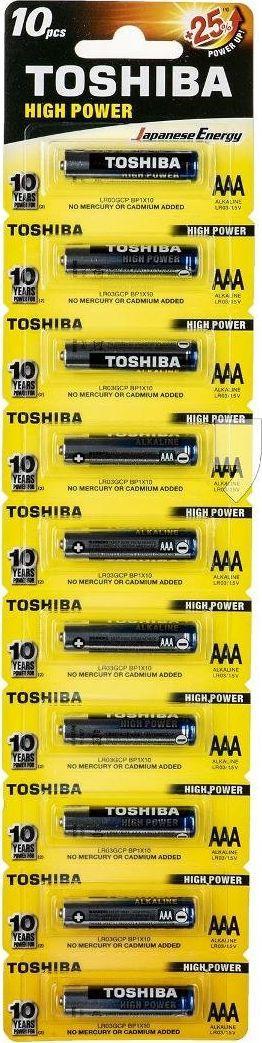 Toshiba Bateria High Power AAA / R03 10szt. 1