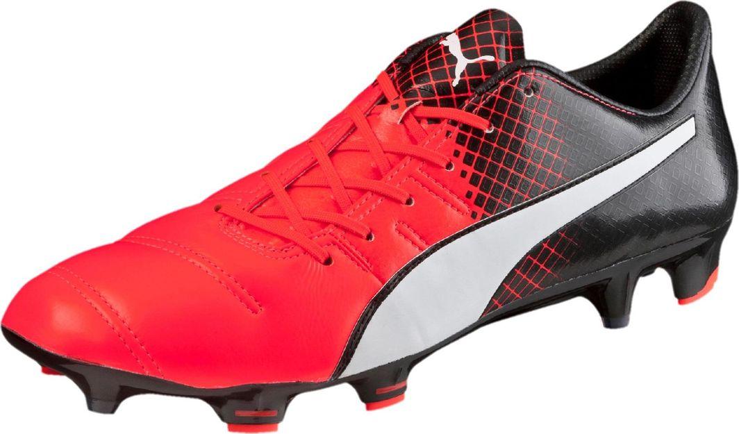 Puma Buty piłkarskie Evopower 1.3 Lth Fg czerwono czarne r. 44.5 (103850 01) ID produktu: 5816567