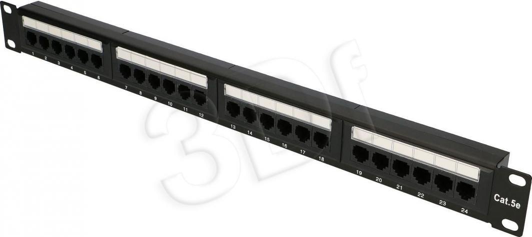 ExtraLink Patch panel Extralink EX.9809 (1U; kat. 5e; 24xRJ-45) 1
