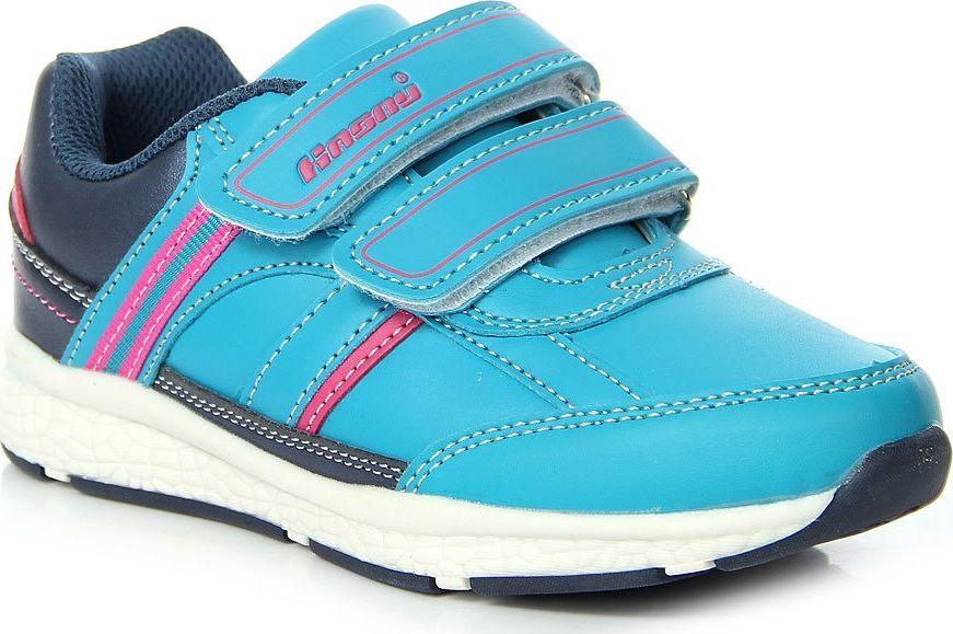 Hasby Niebieskie Buty Sportowe Na Rzepy rozmiar 32