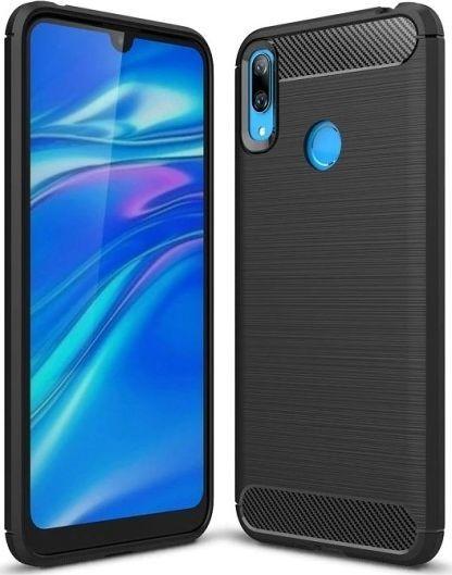 Etui Carbon do Huawei Y7 2019 czarny uniwersalny 1