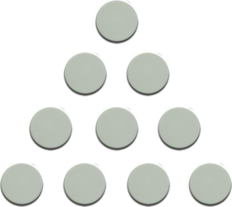 Magnesy 10 sztuk 20 mm białe 1