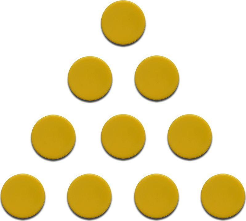 Magnesy 10 sztuk 20 mm żółte 1