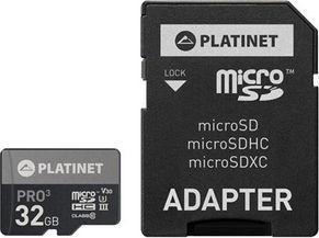 Karta Platinet MicroSDHC 32 GB Class 10 UHS-III/U3 V30 (PMMSD32UIII / 44003) 1