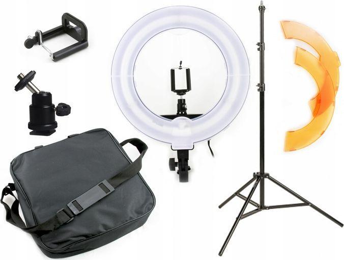 Lampa pierścieniowa Massa 75w + Statyw 230cm + Dyfuzor / Do Makijażu 1
