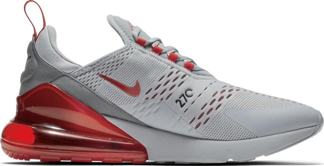 kup popularne szukać wyprzedaż Nike Buty męskie Air Max 270 szaro-czerwone r. 46 (AH8050 018) ID produktu:  5851176