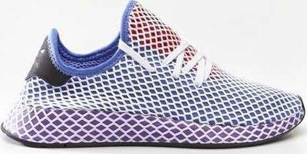 buty męskie adidas deerupt czerwono niebieskie