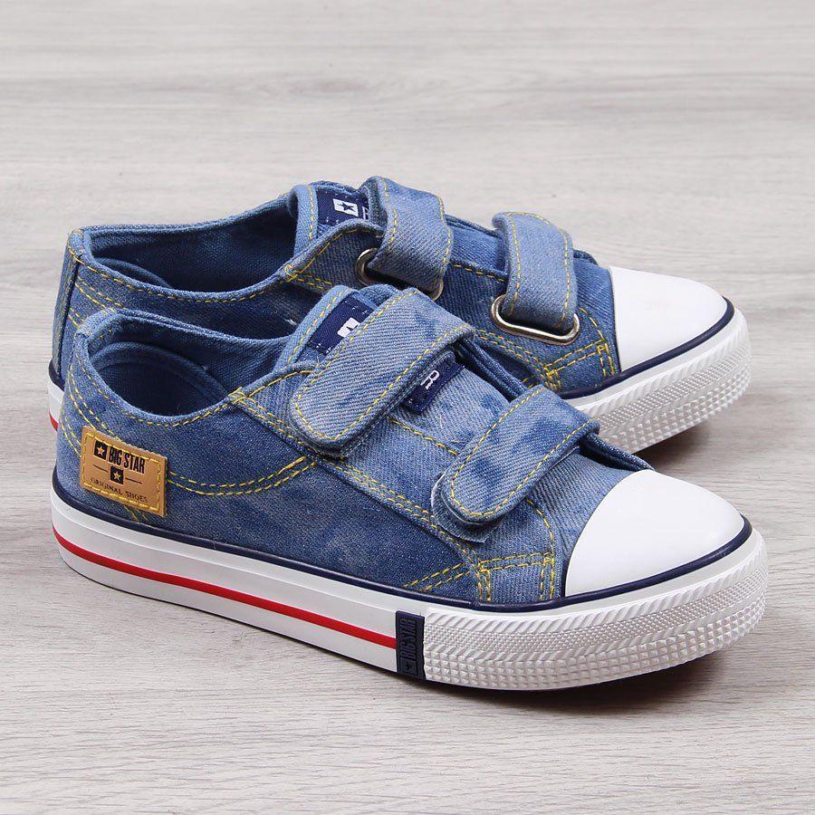 Big Star Trampki dziecięce na rzep jeansowe Big Star 30 ID produktu: 5861785