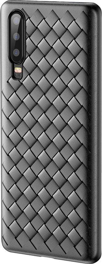 Baseus Baseus BV Weaving Case designerskie żelowe etui pokrowiec Huawei P30 czarny (WIHWP30-BV01) uniwersalny 1