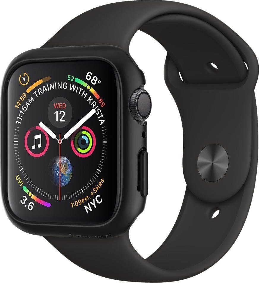 Spigen Etui Thin Fit czarne Apple Watch 4 (44mm) 1
