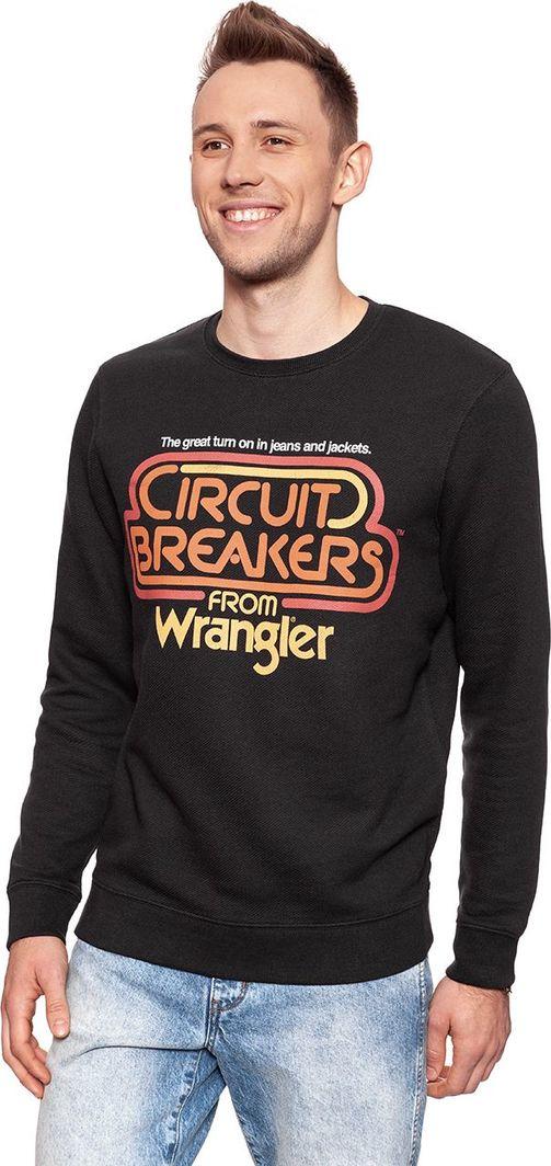Wrangler circuit W6546I4V6 CZARNA BLUZA LOGO XXL Ceny i