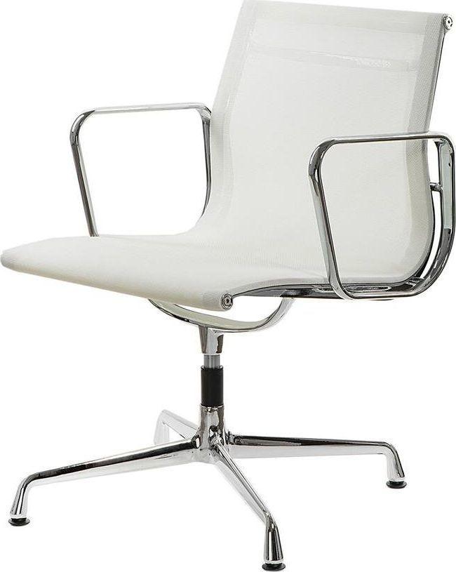 D2 Design Fotel konf. CH1081T,biała siateczka,chromowane uniwersalny 1