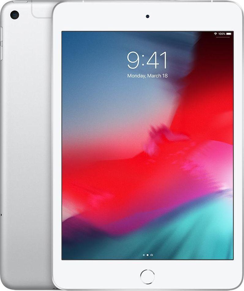 "Tablet Apple iPad Mini + Cellular 7.9"" 256 GB 4G LTE Srebrny  (MUXD2FD/A) 1"