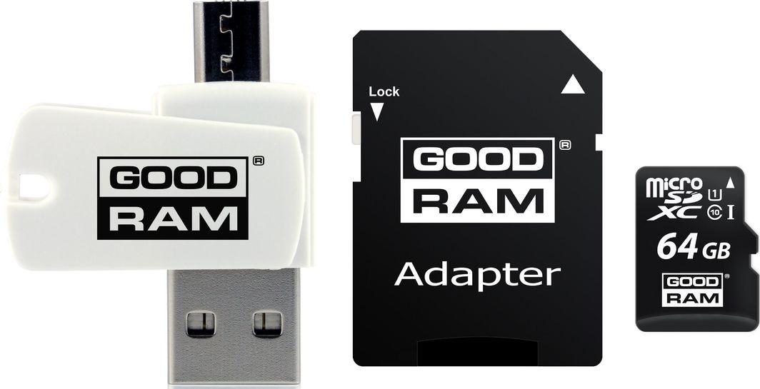 Karta GoodRam All in One MicroSDXC 64 GB Class 10 UHS-I/U1  (M1A4-0640R12) 1