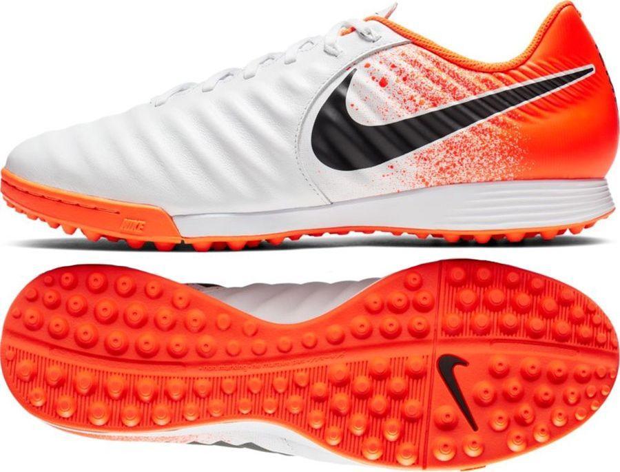 Nike Buty piłkarskie Tiempo LegendX 7 Academy Tf biało pomarańczowe r. 47 12 (AH7243 118) ID produktu: 5888039