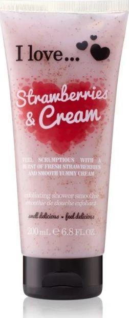I love Exfoliating Shower Smoothie Strawberries & Cream 200ml 1