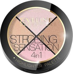 Eveline Strobing Sensation paleta rozświetlająca 4w1 do modelowania twarzy 12g 1