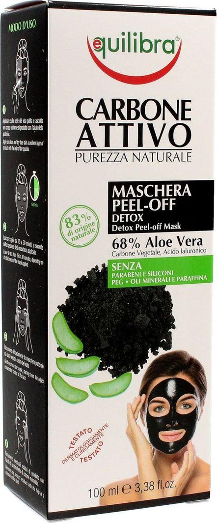 Equilibra Maseczka do twarzy Carbo Detox Peel-Off Mask 68% Aloe Vera oczyszczająca 100ml 1