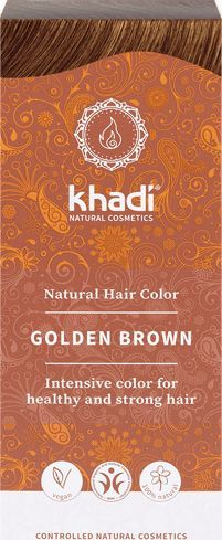 Khadi Natural Hair Colour henna do włosów Złoty Brąz 100g 1