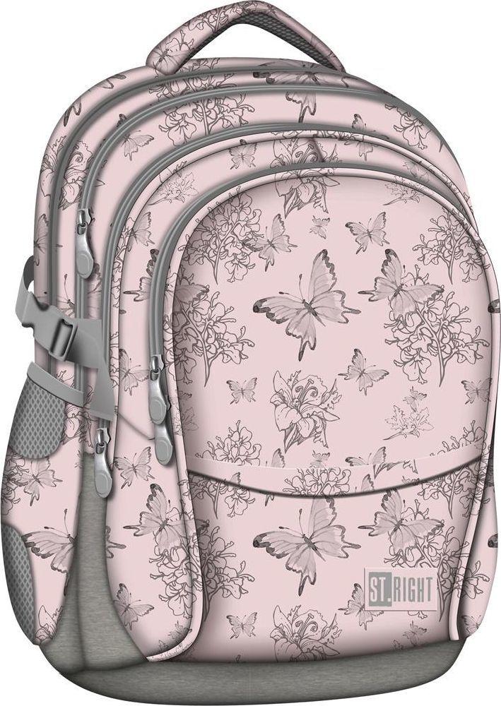 St. Majewski Plecak szkolny Motyle Vintage różowy 1