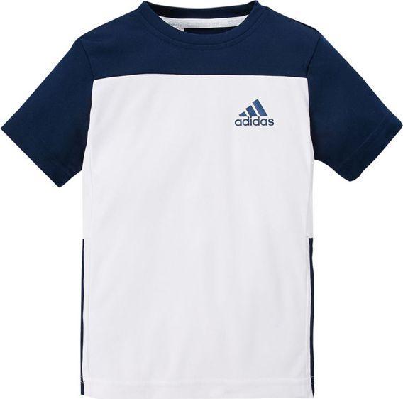 Adidas Koszulka dziecięca Gu Tee biało granatowa r. 176 (AY8154) ID produktu: 5920578