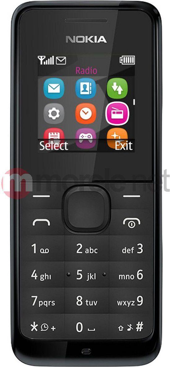 Telefon komórkowy Nokia 105 Czarny (DualSIM) 1