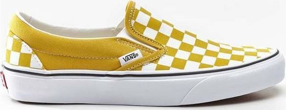Vans Classic Checkerboard Slip on RedOff White