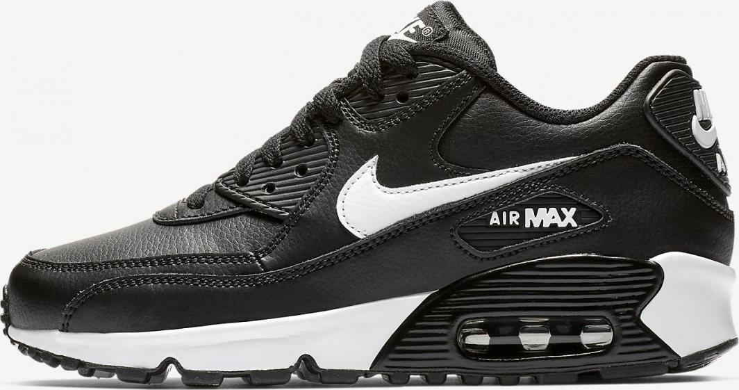 Nike Buty dziecięce Air Max 90 Leather czarne r. 38 (833412 025) ID produktu: 5931735