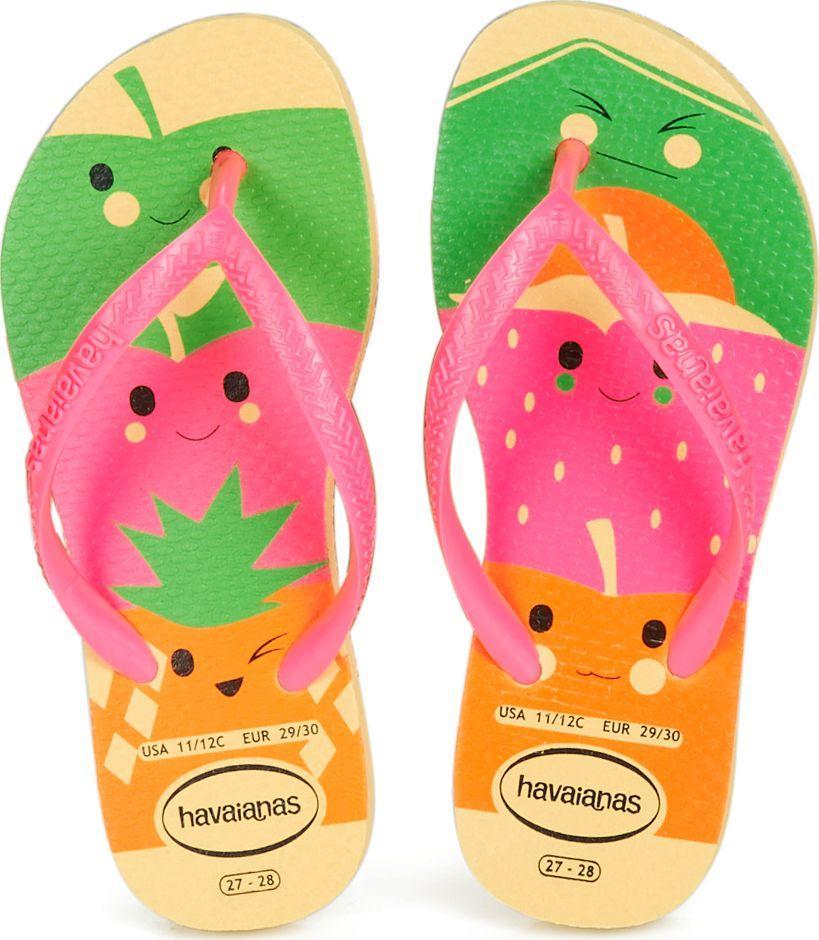 odebrane na wyprzedaży najwyższa jakość Havaianas Japonki dziecięce Slim Fun żółto- różowe r. 31/32 (4141411 0075)  ID produktu: 5934654