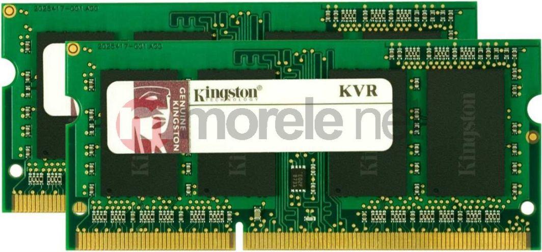 Pamięć do laptopa Kingston ValueRAM, SODIMM, DDR3, 8 GB, 1333 MHz, CL9 (KVR13S9S8K2/8) 1