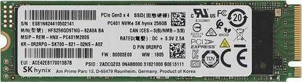 Dysk SSD Hynix 256GB M.2 2280 PCIe NVMe (HFS256GD9TNG-62A0A BA) - demontaż 1