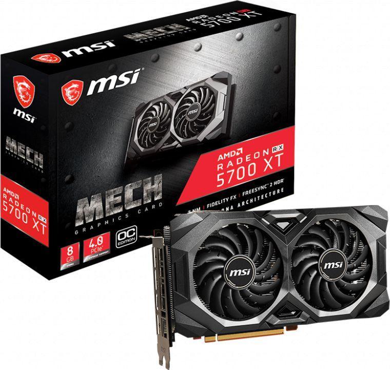 Karta graficzna MSI Radeon RX 5700 XT Mech OC 8GB GDDR6 (RX 5700 XT MECH OC) 1