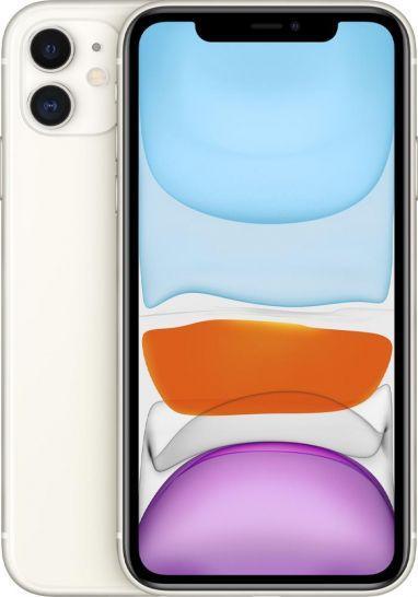 Smartfon Apple iPhone 11 128 GB Dual SIM Biały  (MWM22PM/A) 1