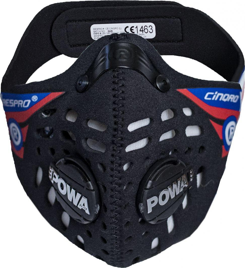 Maska antysmogowa Respro CE Cinqro Black r. M 1