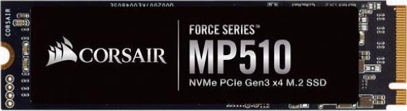 Dysk SSD Corsair Force MP510 480 GB M.2 2280 PCI-E x4 Gen3 NVMe (CSSD-F480GBMP510B) 1