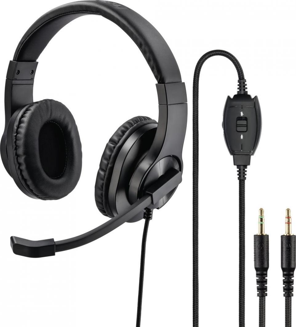 Słuchawki z mikrofonem Hama PC Office Headset HS-P-300 1