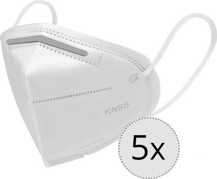 Maseczka ochronna KN95, 4-warstwowa, filtr FFP2, zestaw 5 sztuk 1
