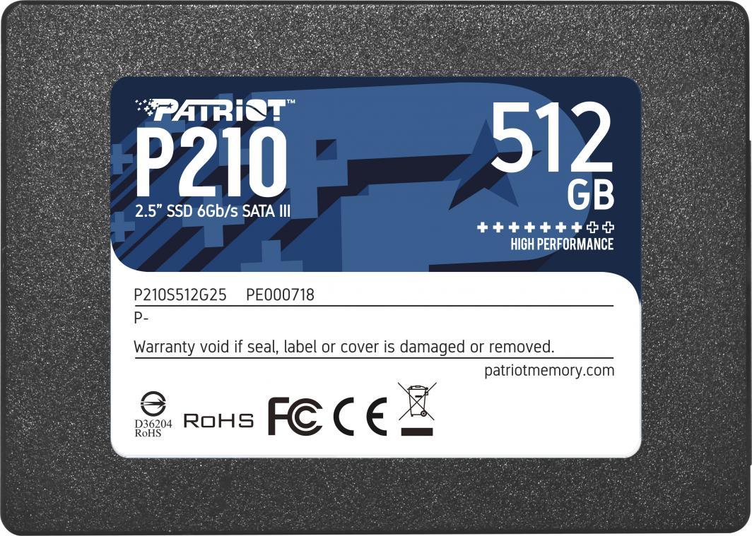Dysk SSD Patriot P210 512 GB 2.5'' SATA III (P210S512G25) 1