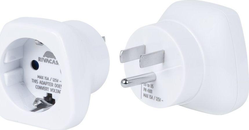 RivaCase Adapter Sieciowy PS4301 EU-US  1