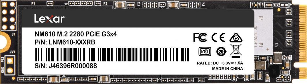 Dysk SSD Lexar NM610 1 TB M.2 2280 PCI-E x4 Gen3 NVMe (LNM610-1TRB) 1