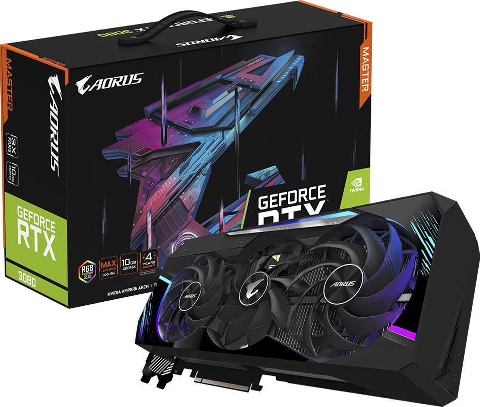 Karta graficzna Gigabyte Aorus GeForce RTX 3080 Master 10GB GDDR6X (GV-N3080AORUS M-10GD 2.0) 1