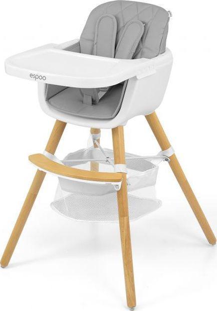 Milly Mally Krzesełko do karmienia 2w1 Espoo Grey 1