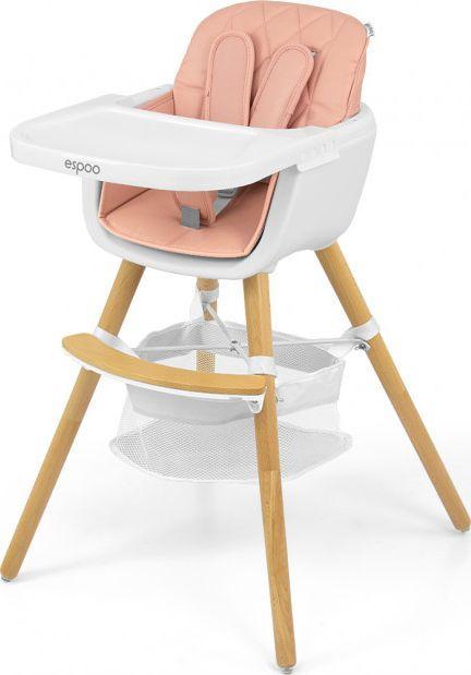 Milly Mally Krzesełko do karmienia 2w1 Espoo Pink 1