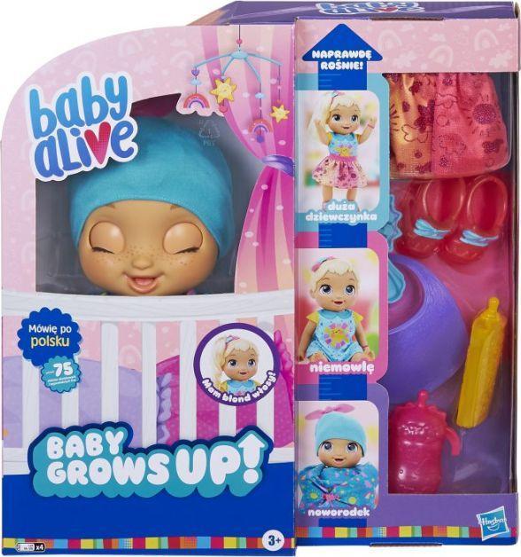 Hasbro Baby Alive Lalka Ja naprawdę rosnę - Blond (E8199) 1