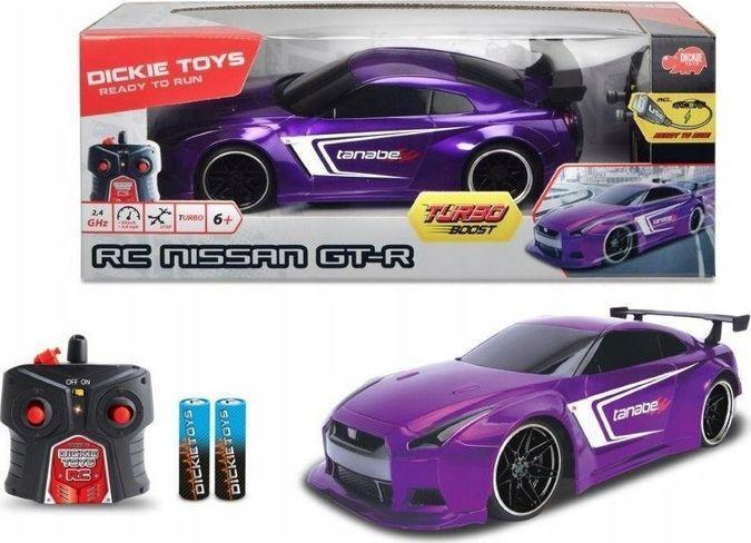 Dickie Auto RC Nissan GT-R fioletowe 1