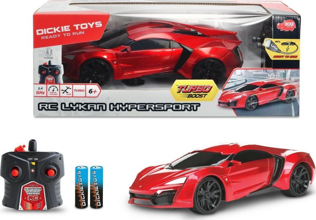 Dickie Auto RC Lykan Hypersport GT-R czerwone 1